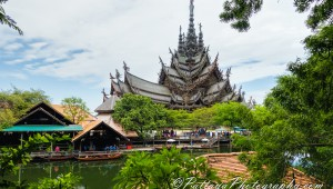 The Sanctuary of Truth in Naklua, Thailand